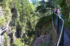 Wanderung mit Kindern durch die Gießenbachklamm bei Kiefersfelden in Oberbayern